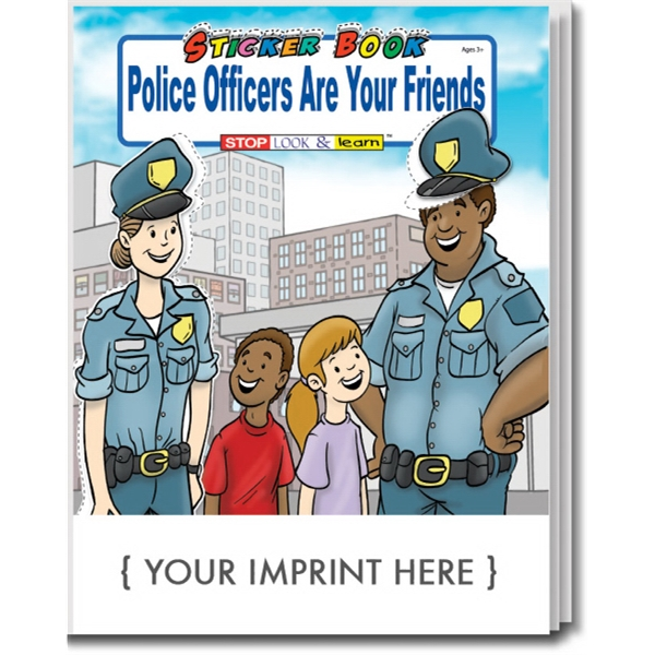 Item #1065 Police Officers Are Your Friends Sticker Book