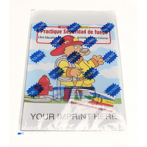 Item #1430FP Practice Fire Safety Spanish Coloring Book Fun Pack
