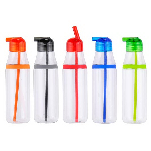 Item #7712 Pure Water 26 Oz. Bottle With Straw