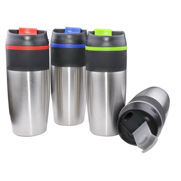 Item #7733 Rainbow 15 Oz. Stainless Steel Mug