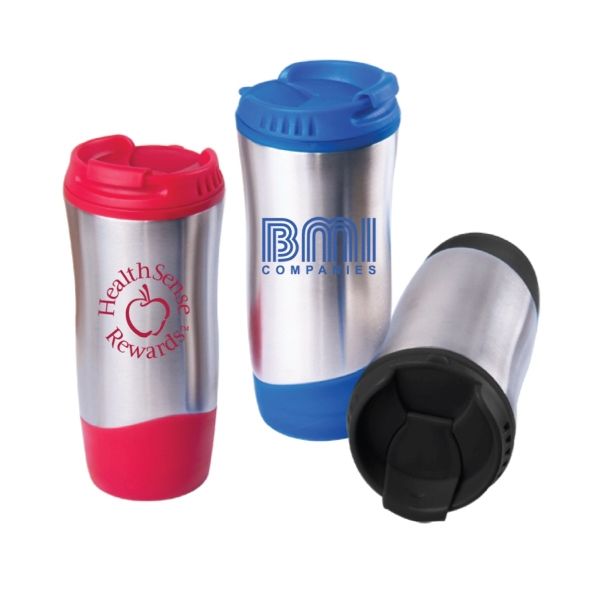 Item #7739 16 Oz. Wave Stainless Steel Bottle