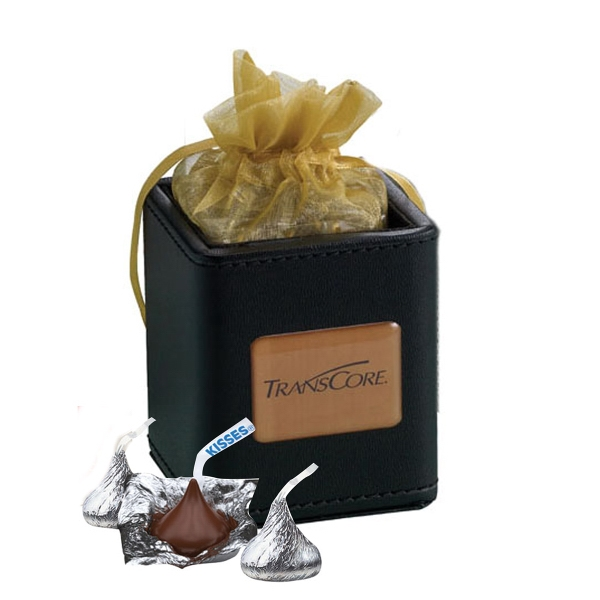 Item #425-CKSS X-Cube Pen Holder filled with foil wrapped chocolate