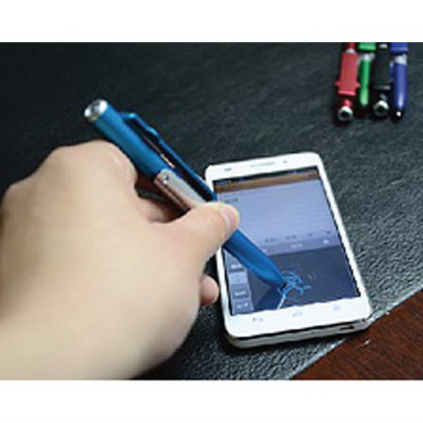 Item #7865 Malta 4-In-1 Stylus Pen, Phone Stand And Flashlight
