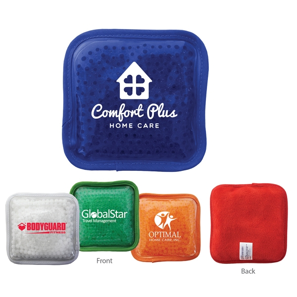 Item #43185 Plush Square Gel Bead Hot/Cold Pack