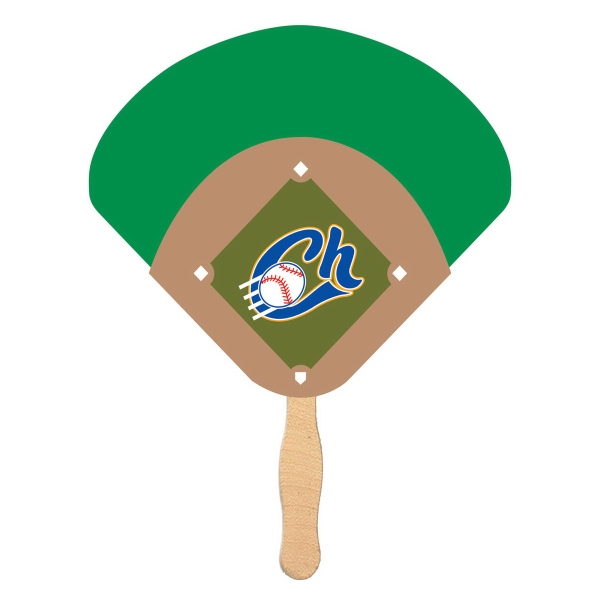Item #FAN-DIAMOND Baseball Diamond Shaped Fan - Eco Friendly