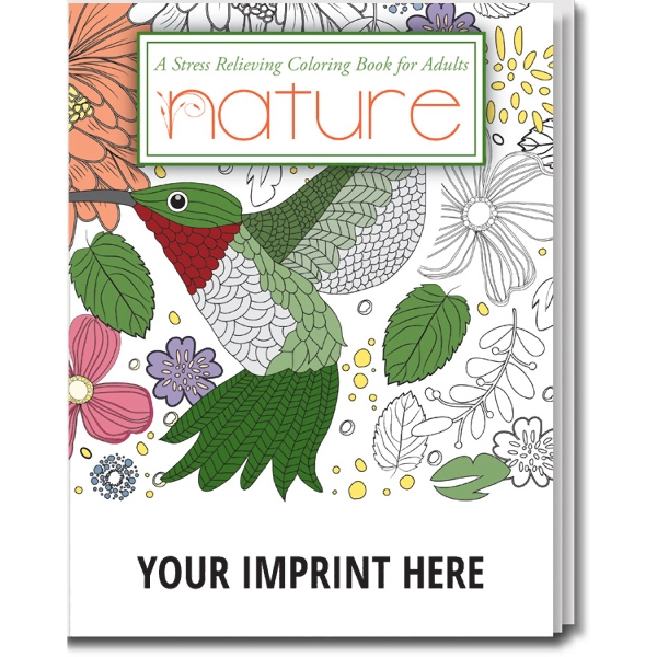 Item #2100 Nature. Stress Relieving Coloring Books for Adults