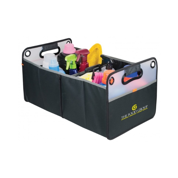 Item #B-8841 Frosted Plastic Collapsible Trunk Organizer