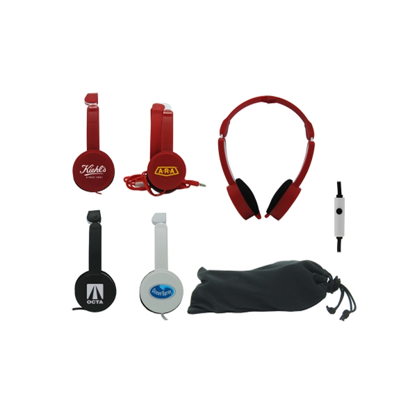 Item #7906 Grammy's Folding Headphones with Pouch