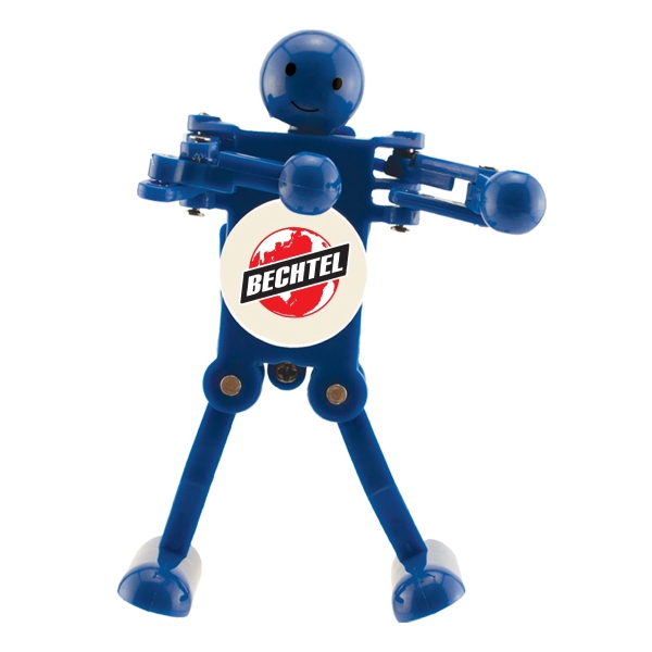 Item #4420 Series Wind Up Bots - Dancing Mini Robots with Spinning Logo