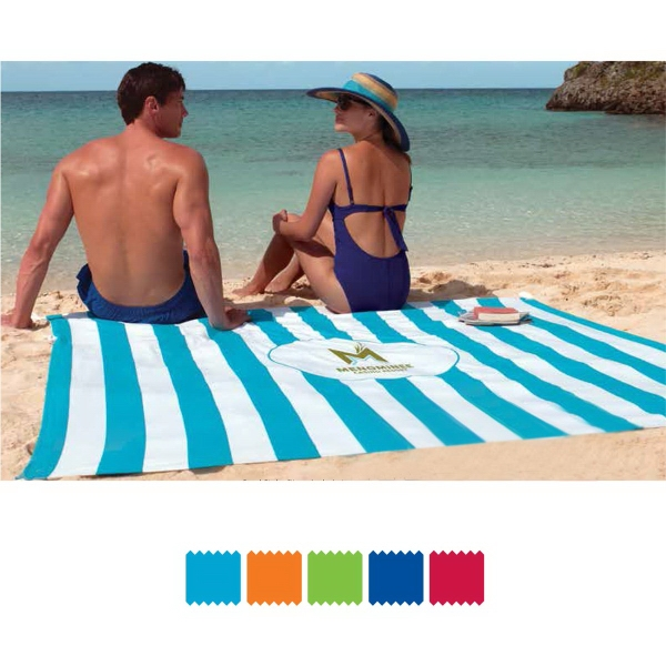 Beach Blanket Volleyball: Beach Blanket Tote With Sand Stakes