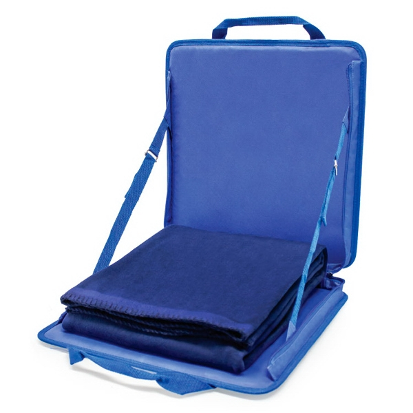 Item #CC905 PORTABLE STADIUM SEAT & BLANKET SET
