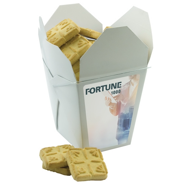 Item #FORTUNEBOX-SB Fortune Cookie Box with Short Bread Cookies