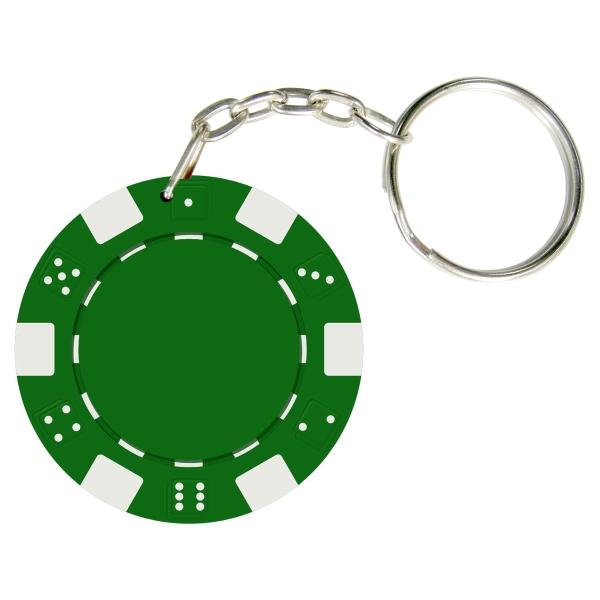 Dice Style Poker Chip Keychain - Item #KEY01-02