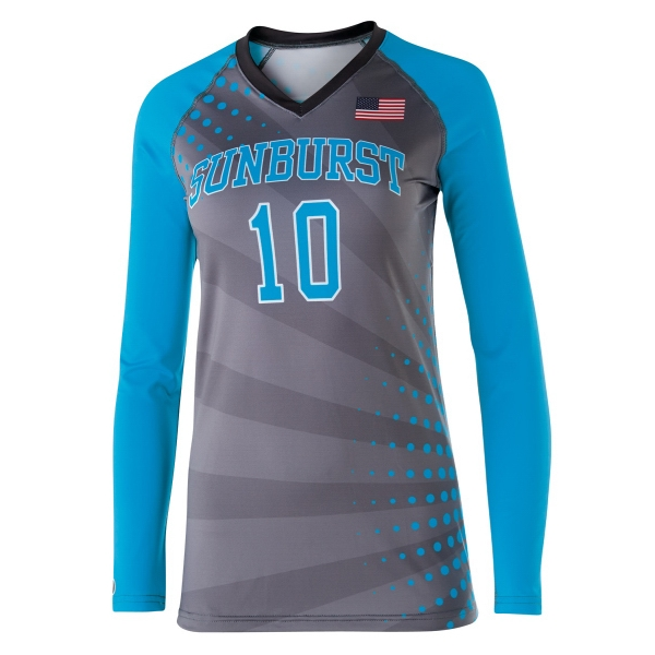 Item #228359 Ladies' Long Sleeve Custom Sublimated Volleyball Jersey