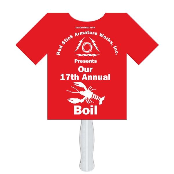 T shirt hand fan full color 1 side item lfx 99 for Custom full color t shirt printing