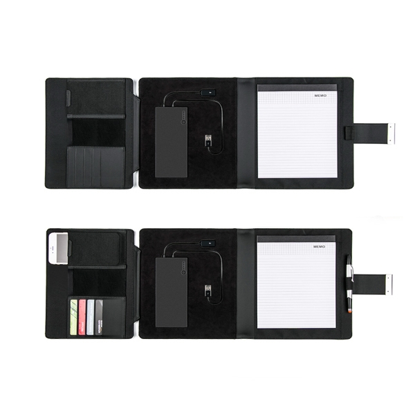 Item #B-7106 Compact Tablet Powerbank Padfolio