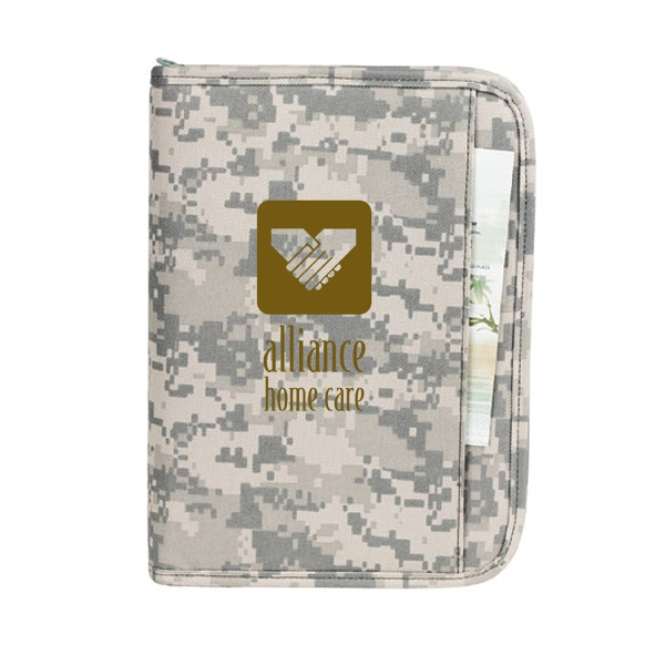 Item #B-5104 Digital Camo Large Planner Padfolio Wallet