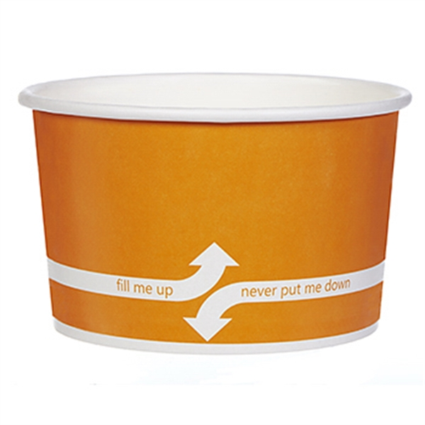 Item #3067-0FX 24 oz. Paper Dessert/Food Cup Flexographic printed
