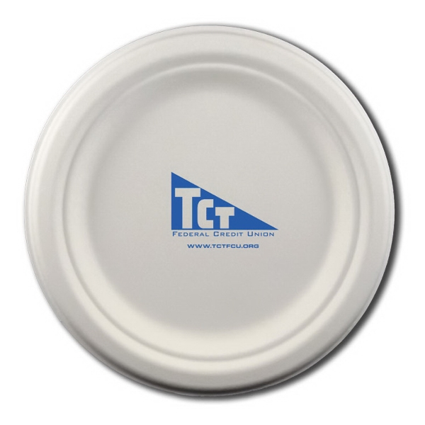 "Item #3070-675-CP-QS 6.75"" Round Eco-Friendly Paper Plate"