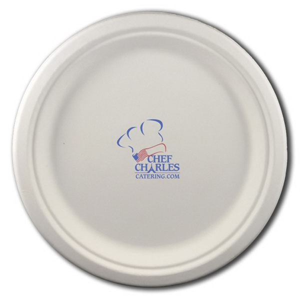"Item #3071-875-CP-QS 8.75"" Round Eco-Friendly Paper Plate"