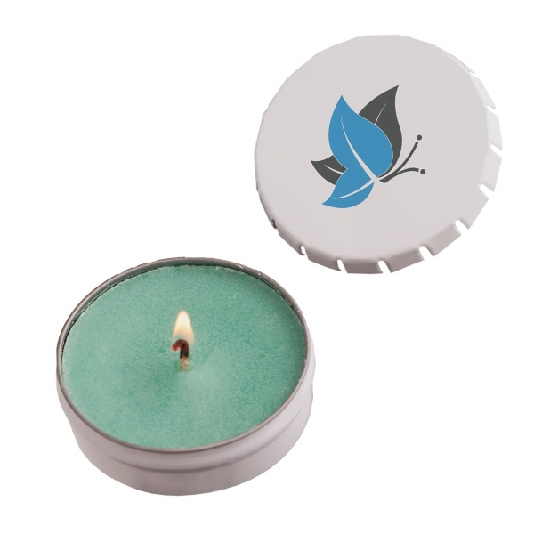 Item #STC03WG-CANDLE Snap-Top Tin Soy Candle (Baked Apple) - Eco Friendly