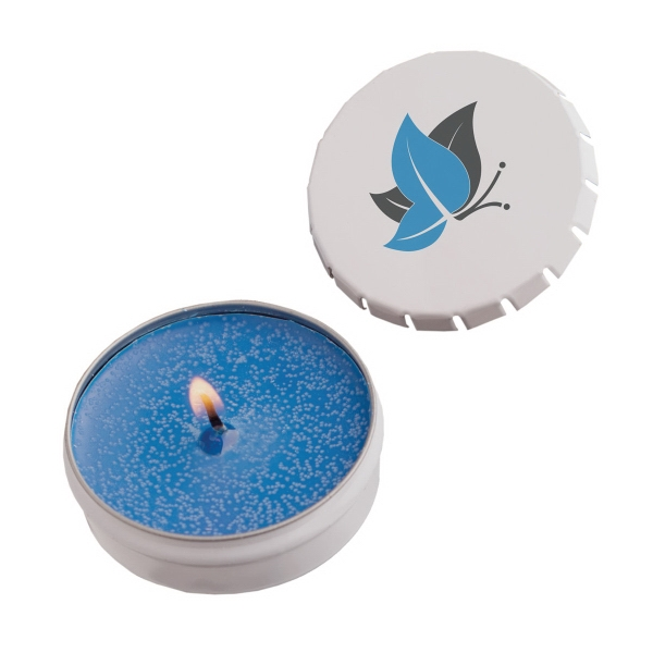 Item #STC03WN-CANDLE Snap-Top Tin Soy Candle (Hawaiian Paradise) - Eco Friendly