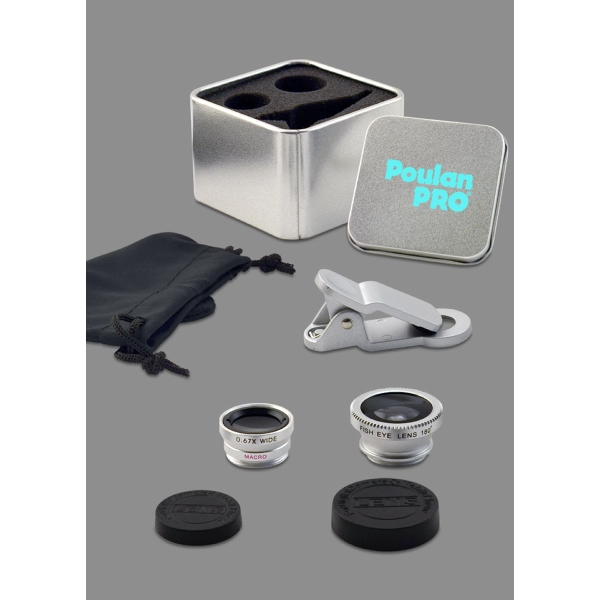 Item #631577 3-in-1 Macro, Wide Angle & Fish Eye Lens Set in Tin Gift Box