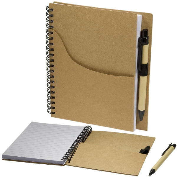 Item #PL-3702 Eco Handy Notebook with Pocket/Pen Combo