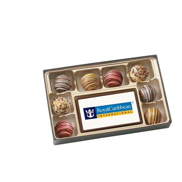 Item #BT8-DIG 8 Piece Truffle Box with Printed Centerpiece