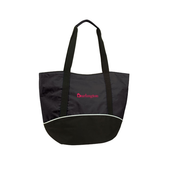 Item #B-5219 Poly Zippered Shopping Tote Bag