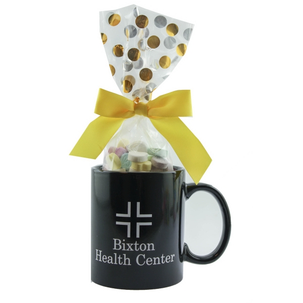 Ceramic Mug Stuffer with Conversation Hearts - Drinkware
