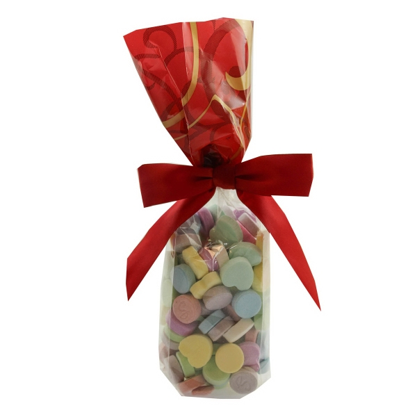 Mug Stuffer Gift Bag with Conversation Hearts - Valentines