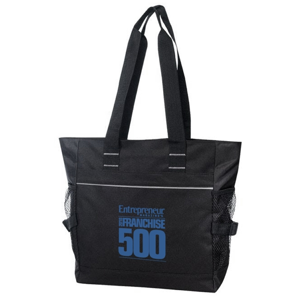 Item #B-8296 Poly Zipper Tote Bag