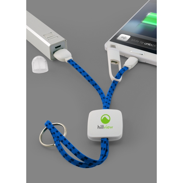 Item #6604 Braided 2-In-1 Charging and Data Sync Cables