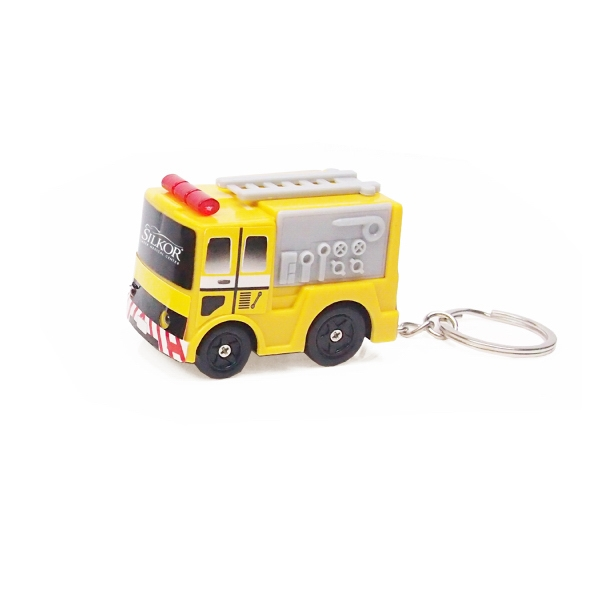 Item #KW-1122 Fire Truck LED Light Keychain Toy