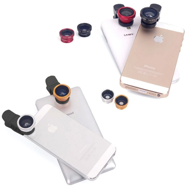 Item #DW-1019 3 in 1 Clip on Camera Lens