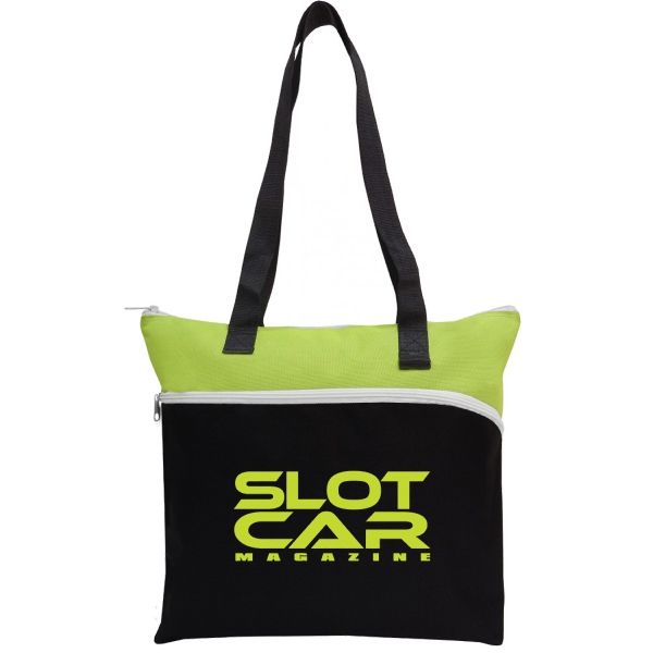 Item #B-6243 Poly Large Zipper Tote Bag
