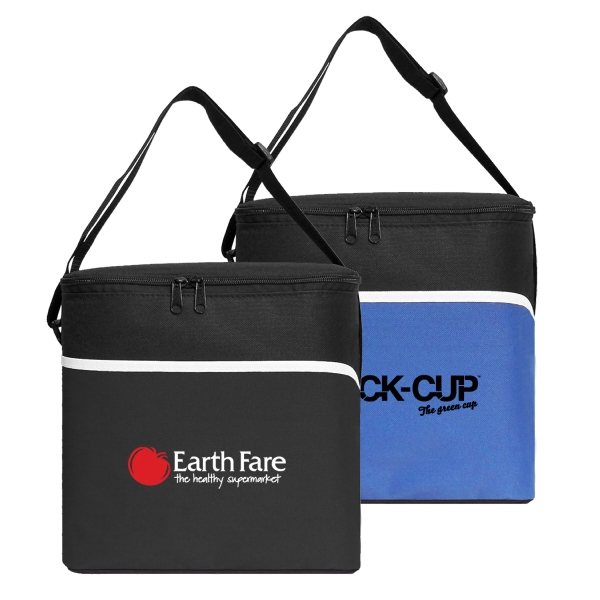 Item #B-6532 Insulated Large 12 Can Cooler Bag