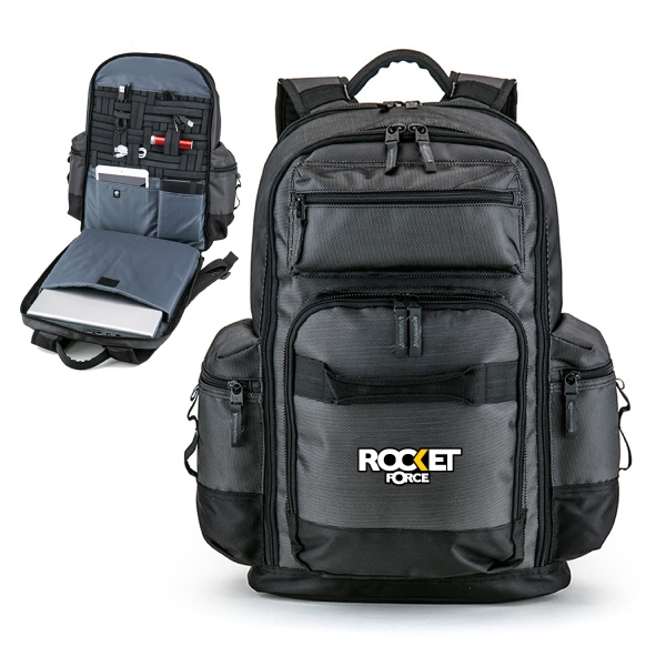 Item #B-7448 Deluxe Tech Organizer Laptop Backpack