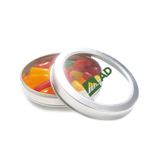 Item #N26001-MNI-E Top View Tin with Mike & Ike®