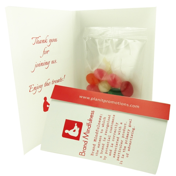 Item #CC100-JEL-E Imprinted Calling Card with Assorted Jelly Beans