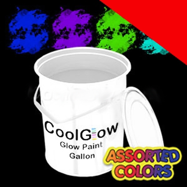 Item #O967-B BLANK Glominex Glow Paint Gallons - Invisible Day Assorted