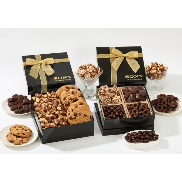 Item #GB4H-CHOCOLATE Chairman Gourmet Mix Gift Box - Chocolate, Nuts, Pretzels