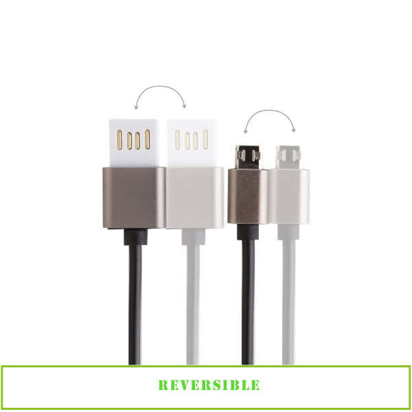 Item #ED302 2-way reversible Sync & Charge Micro USB Cable