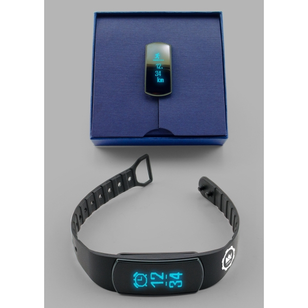 Item #412655 OLED Heart Rate Fitness Tracker & Watch Bluetooth Bracelet
