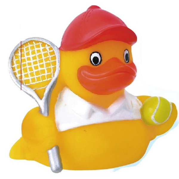 Item #AD-1079C Rubber Squeaking Tennis Duck