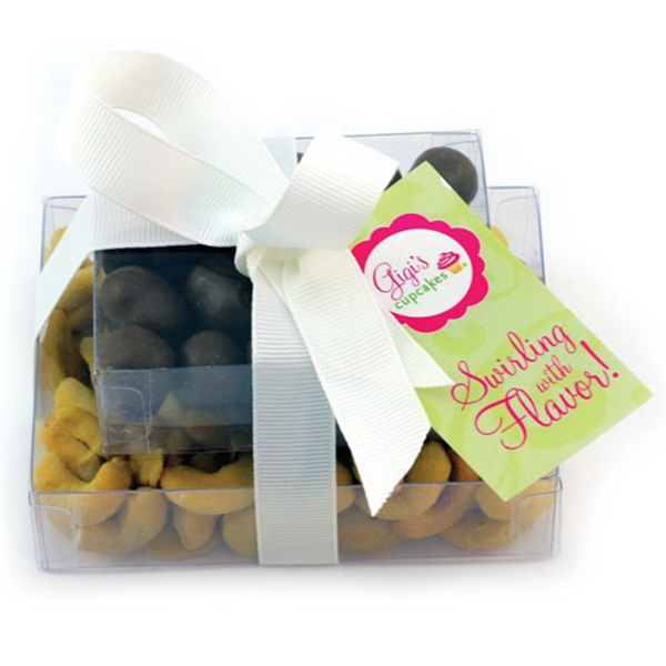 Item #SP2-C-NUTS Double Stack Present Container - Espresso Beans, Cashews Nut