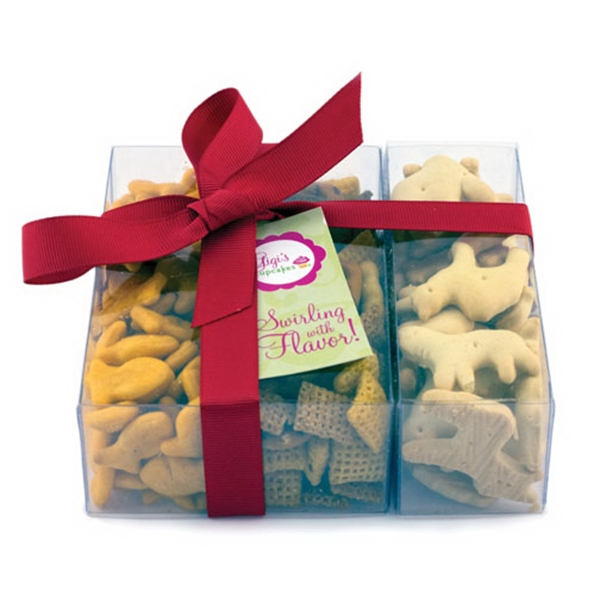 Item #SP3-A-SNACK Triple Treat Present - Chex Mix, Goldfish, Animal Crackers