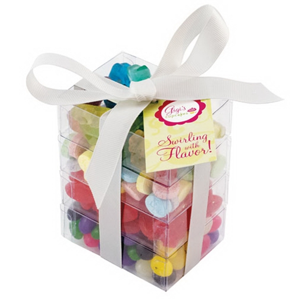 Item #SSP-A-CANDY Super Stack Present Container with Candy