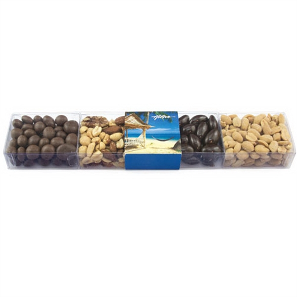 Item #SBM-B-NUTS Sweet Box Medley Container with Nuts and Chocolate